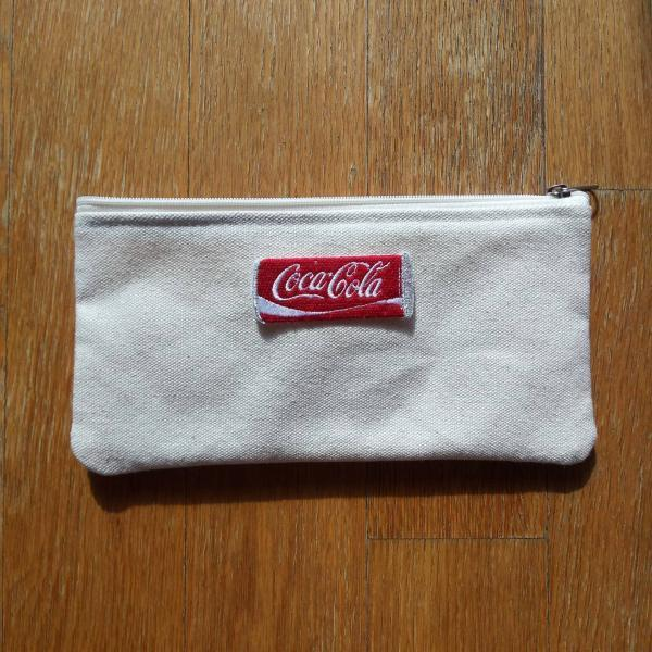 Coca-Cola zipper pouch, canvas pouch, makeup pouch, pencils pouch